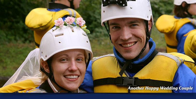rafting wedding trip