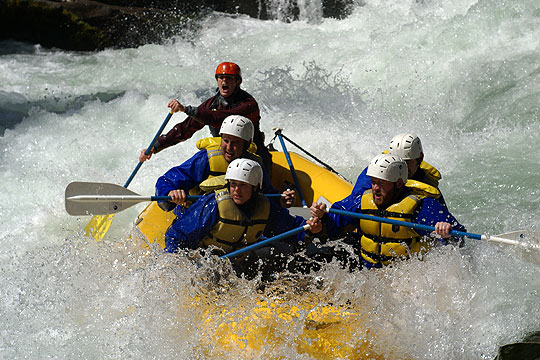 Wind River white water rafting