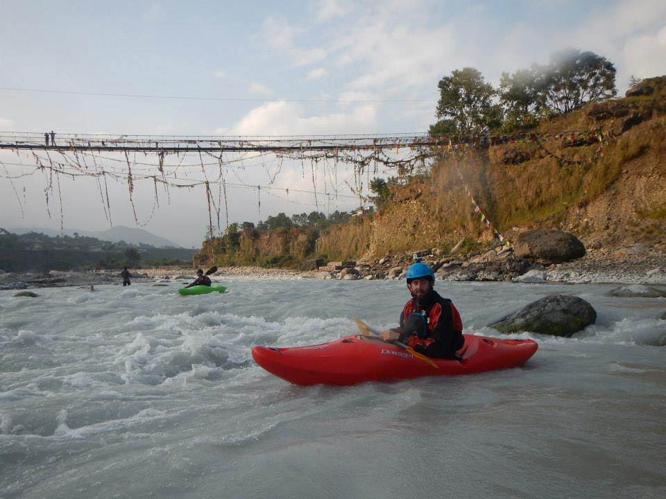 Wet Planet staff paddling in Nepal
